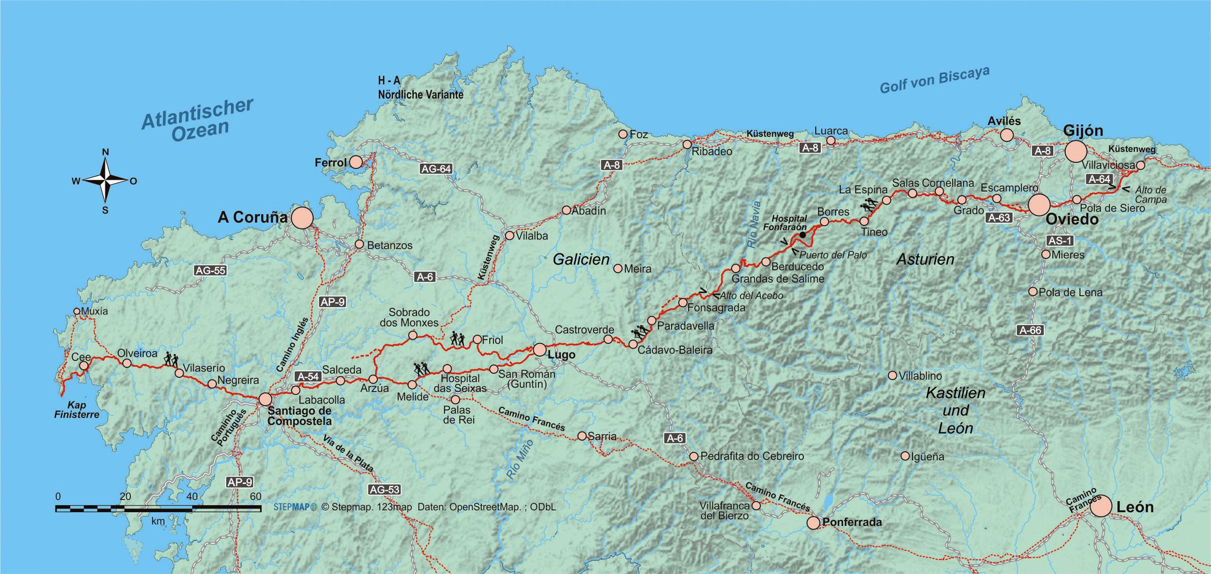 Camino Portugues Karte.Camino 2019